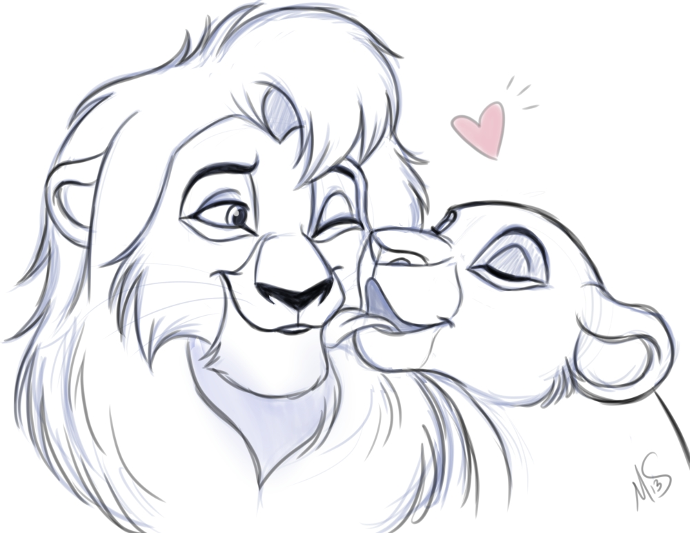 Gallery For gt Kovu And Kiara Coloring Pages