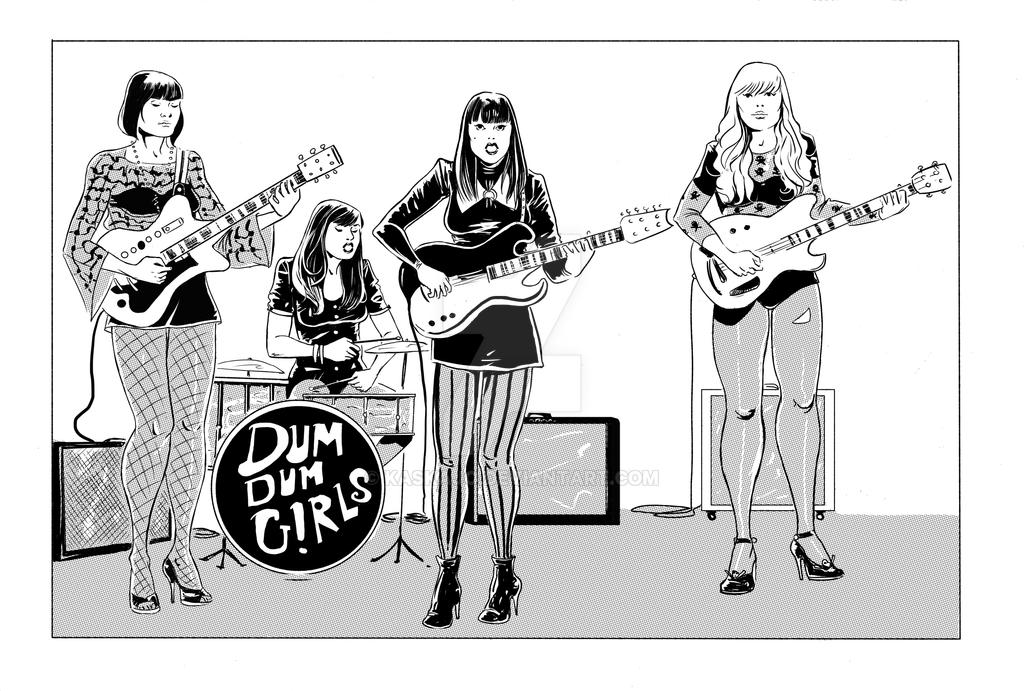 dum dum girls by kaskajo