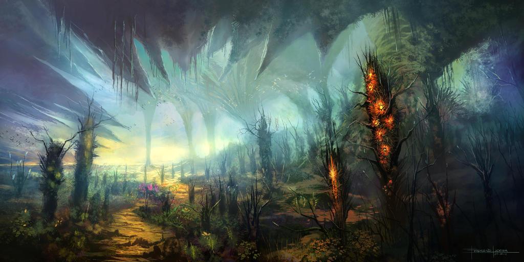 alien landscapes fantasy - HD2560×1280