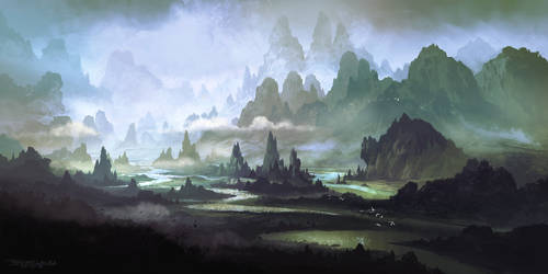 The River of Ang-roth by FerdinandLadera