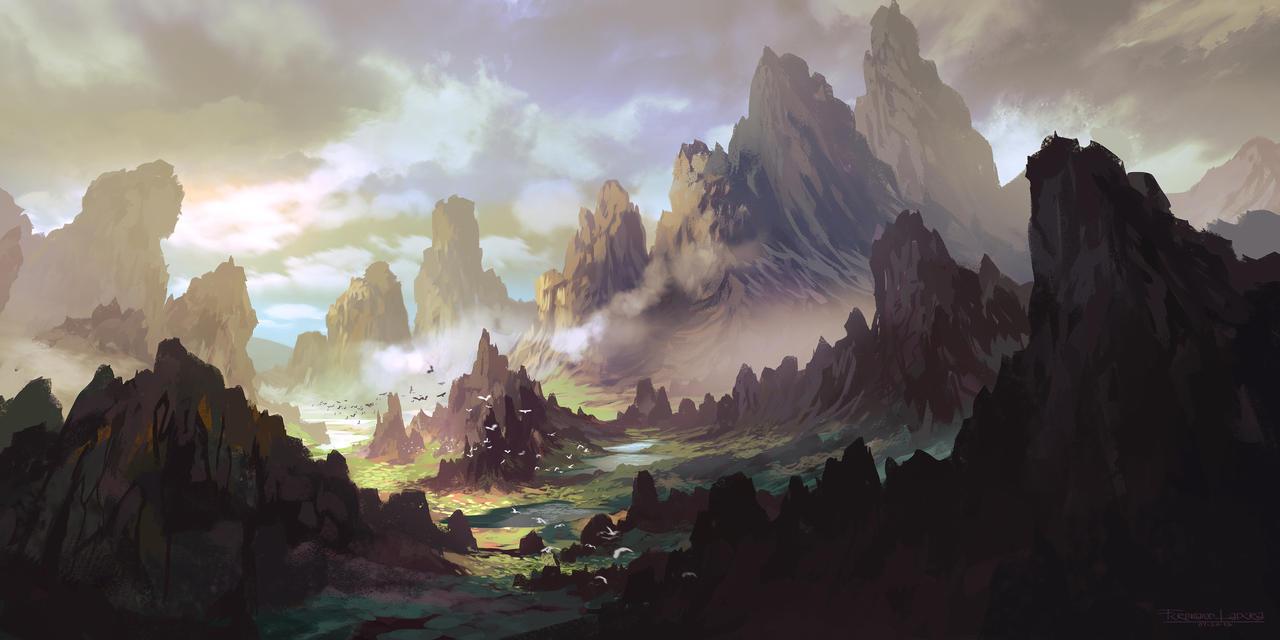 The Land of Ar-kinuth by FerdinandLadera