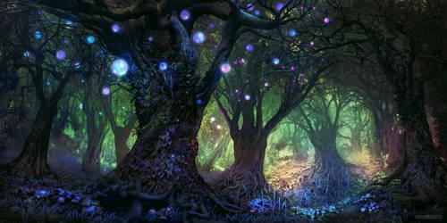 Forest Wisp by FerdinandLadera