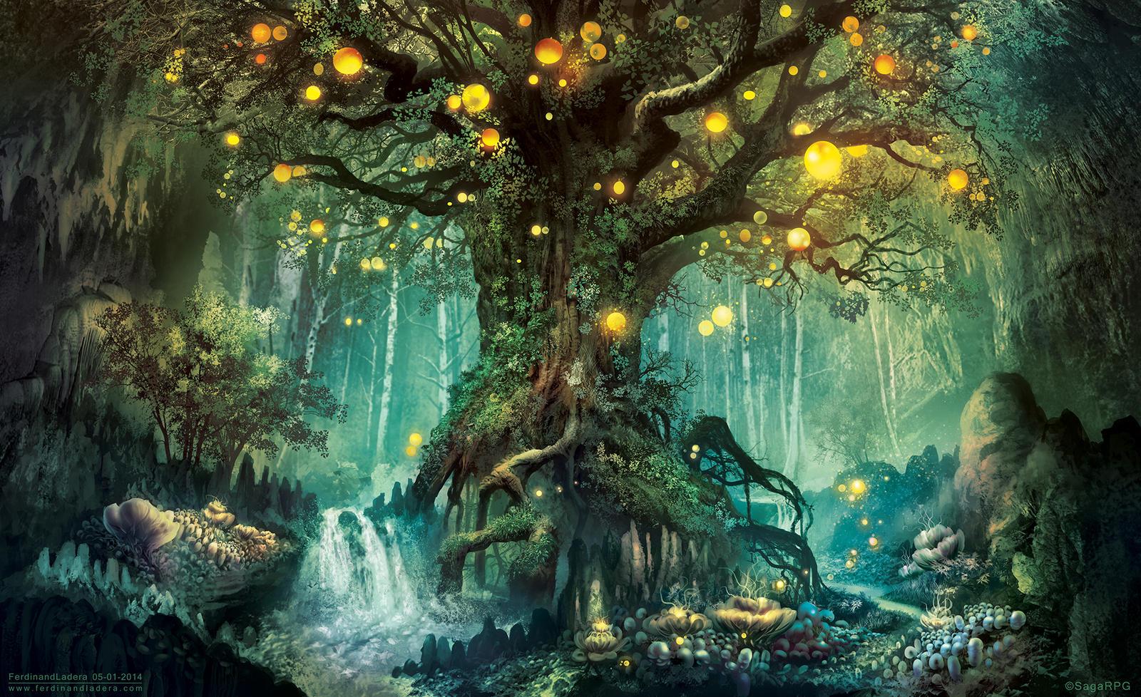Dimlight Forest by FerdinandLadera