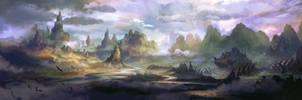 River Mountain II Panoramic by FerdinandLadera