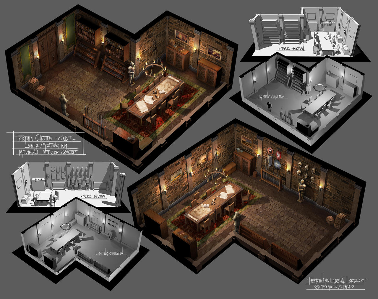 Steampunk interior by ferdinandladera on deviantart - Medieval Interior Meeting Room By Ferdinandladera On