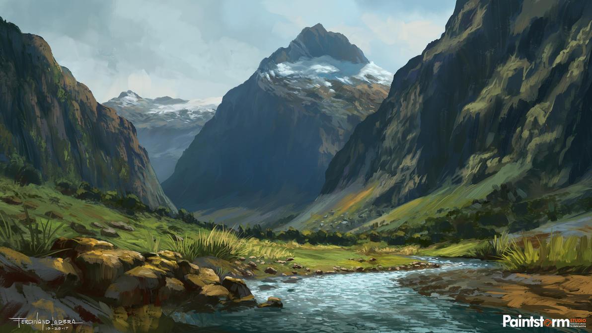 Landscape sketch 01 by FerdinandLadera