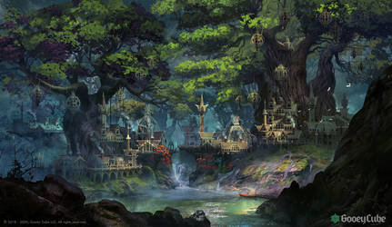 Elven City in Forest