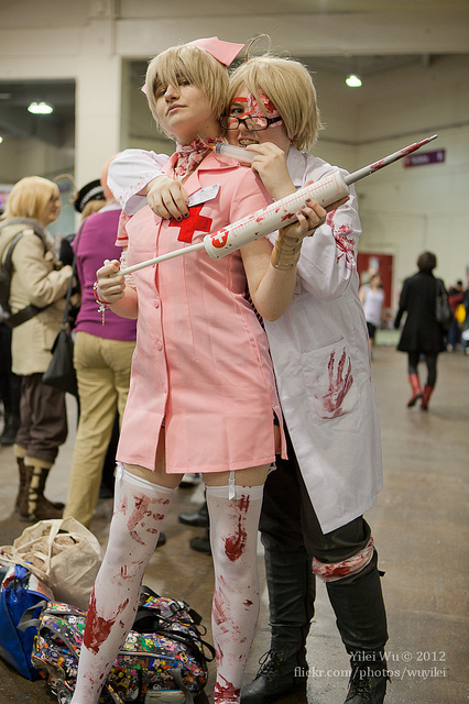 HJ Crazed Doctor America and Nurse England 2012 by SheepGoesRawr