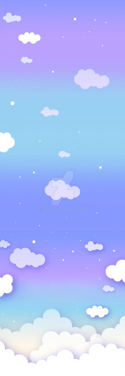 Kawaii Cloud Sky Custom Background by Ulfeid3