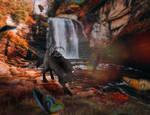 Warm waterfall by Ulfeid3