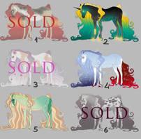 Horse Adoptables 1 - Flat Design Sale [3/6 OPEN]