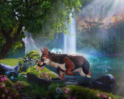 Exploring the waterfalls by Ulfeid3