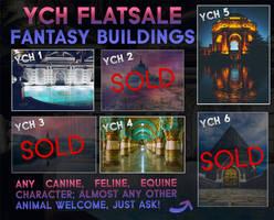 YCH Flatsale - Fantasy buildings [3/6 OPEN]