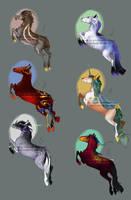 Equine Fantasy Adoptables [6/6 OPEN] by Ulfeid3