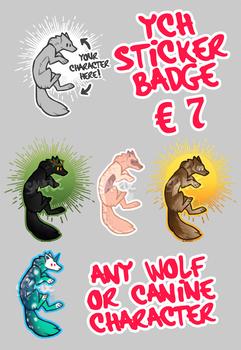 Canine YCH Chibi Sticker[ALWAYS OPEN]