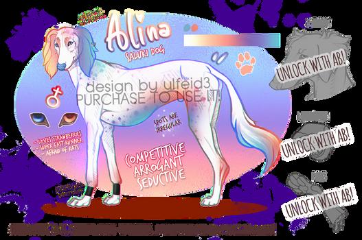 Alina the saluki - Dog design - AUCTION [OPEN]