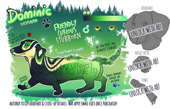 Dominic the dachshund - Dog adopt - AUCTION [OPEN]