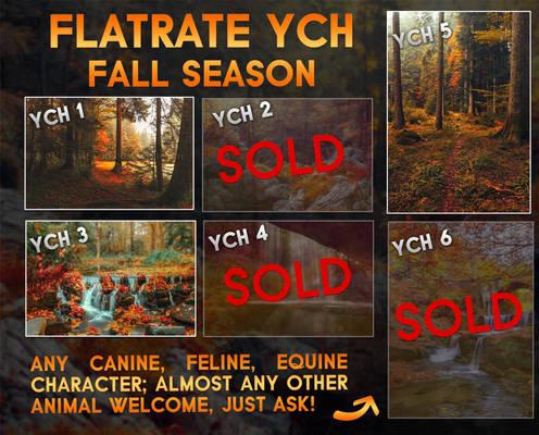 Flatsale YCH - Fall Season [3/6 OPEN]