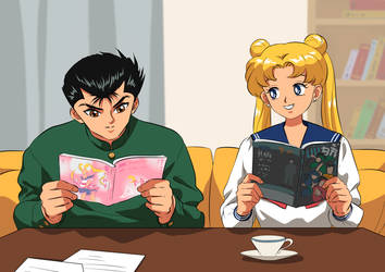 Usagi and Yuyu (com.) by katewind