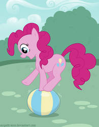 Pinkie Pie on a ball