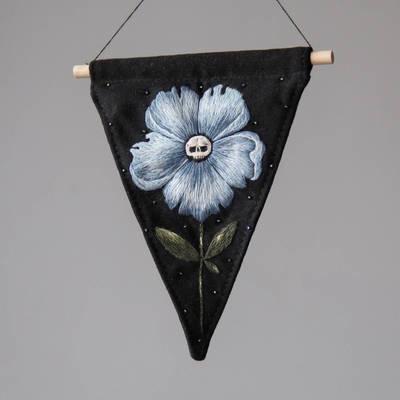 blue skullflower
