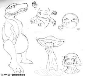 Demonic Mario Species by SladeJT