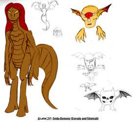 Demonic Zelda Species - Gerudo + Shiekah by SladeJT