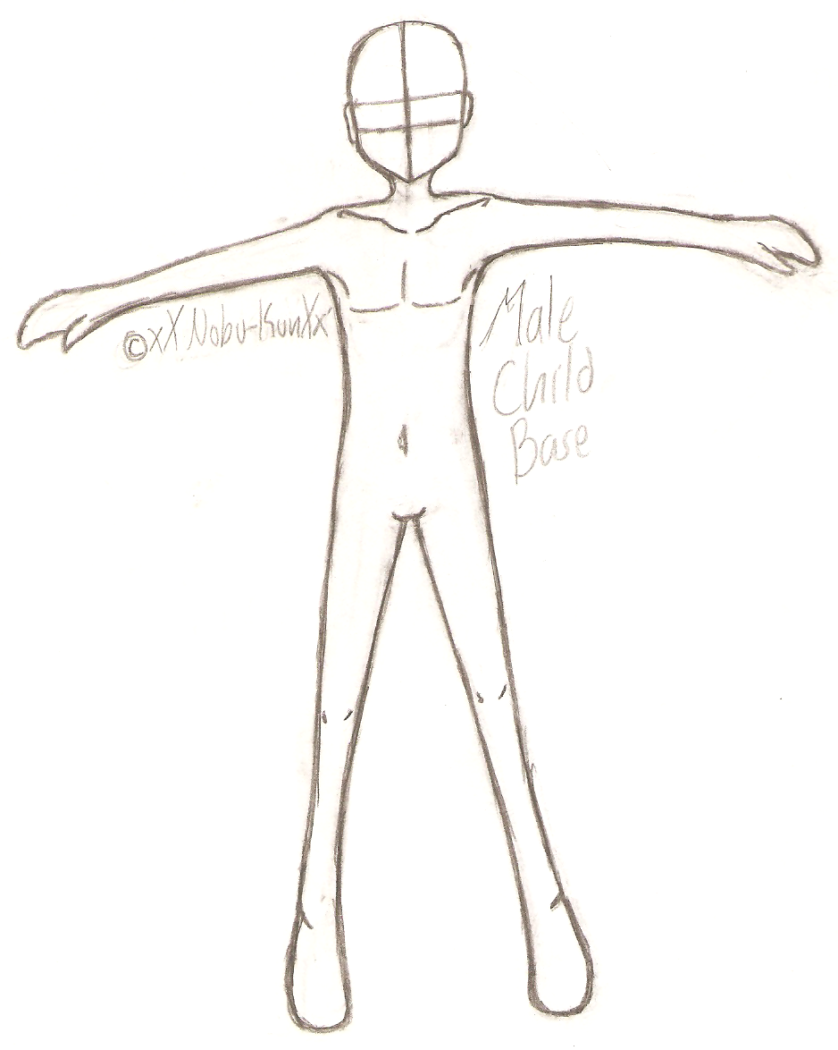 how to draw anime male base