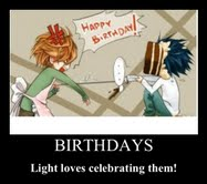 Light and birthdays by miradeathnote