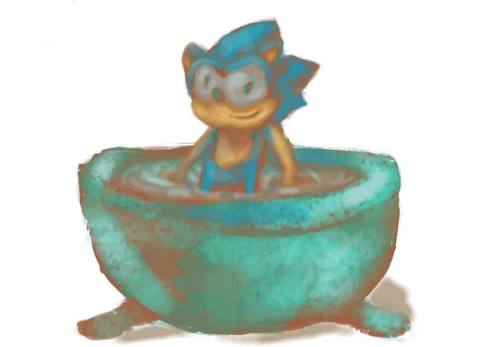 Sonic in a diamond bathtub by TheJelloArtist on DeviantArt