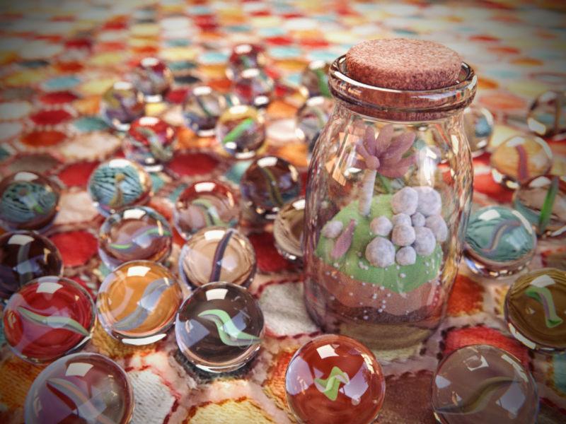 Marble scene