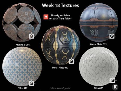 Week 18 Textures - Free seamless PBR textures