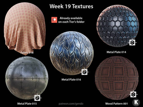Week 19 Textures - Free seamless PBR textures