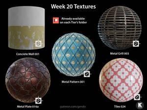 Week 20 Textures - Free seamless PBR textures