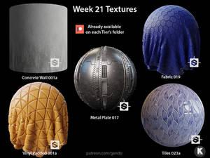 Week 21 Textures - Free seamless PBR textures