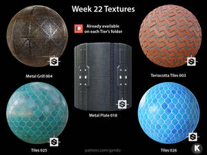 Week 22 Textures - Free seamless PBR textures
