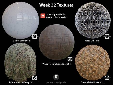 Week 32 Textures