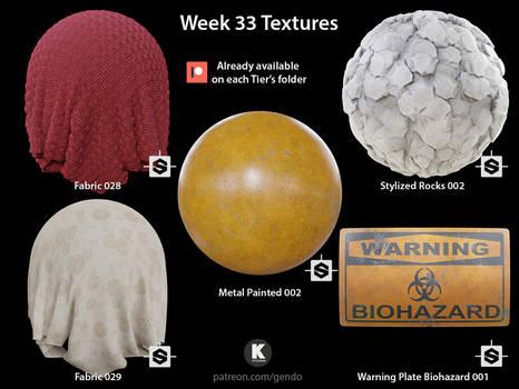Week 33 Textures