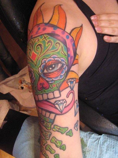 SUGAR SKULL - shoulder tattoo