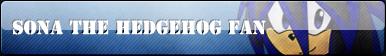 Sona The Hedgehog Fan Button :COMM: