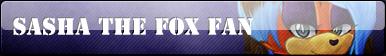 Sasha the Fox Fan Button :COMM: