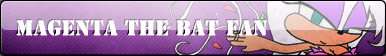 Magenta The Bat Button :COMM: