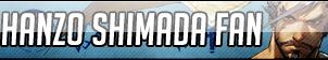 Hanzo Shimada Fan Button - Free to use by Mi-ChanComm