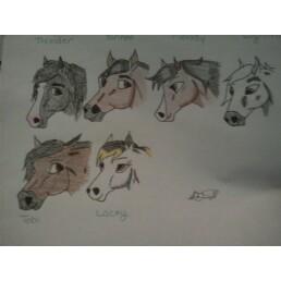 Silver meadow characters by kellirox14