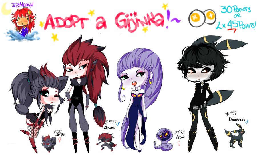 Adopt a Gijinka -Set 1- CLOSED by JessMikaerisu