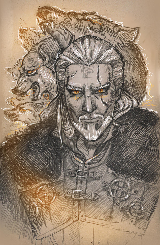 Geralt.white wolf by ShivaWalker