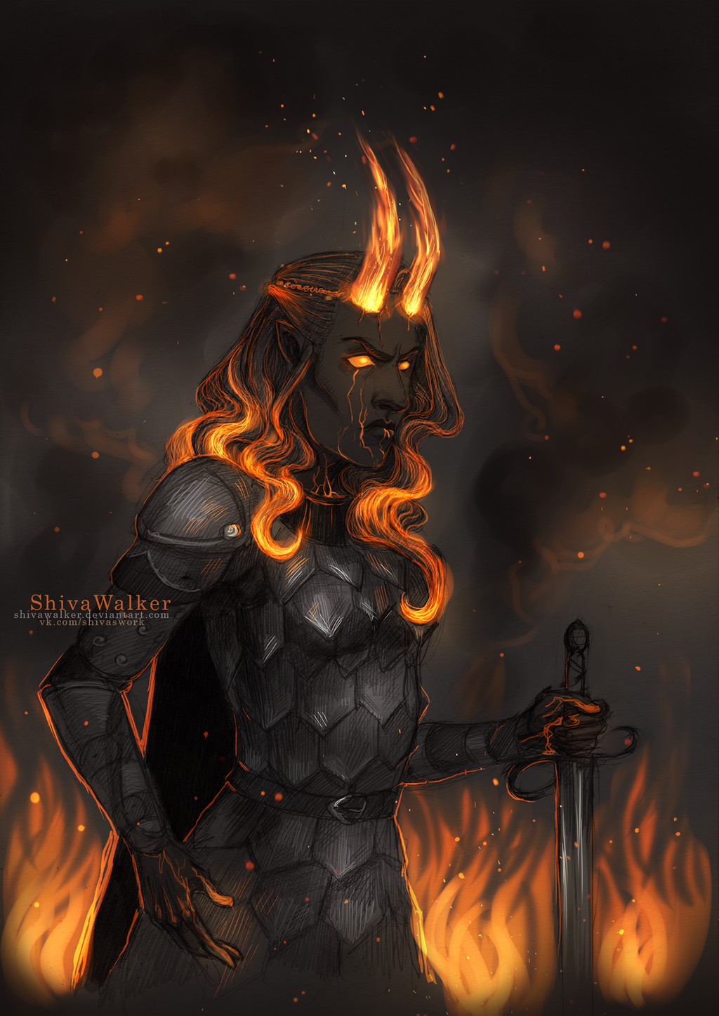fire godlike Latissia by ShivaWalker