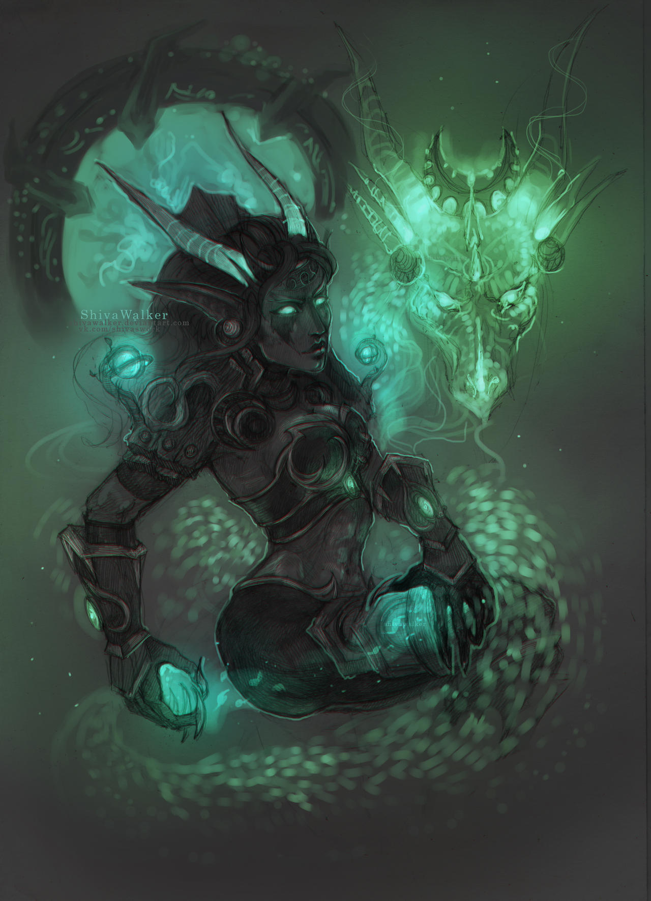 Ysera| two natures by ShivaWalker