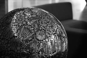 Graphic Sphere by pattysmear