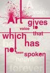 Art gives...